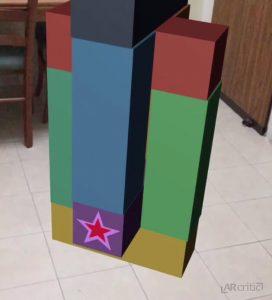 Star block for bonus score in AR-Tower game