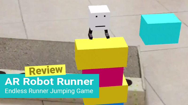 AR Robot Runner iOS game screenshot