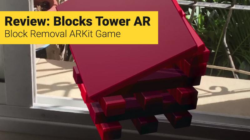 Blocks Tower AR game