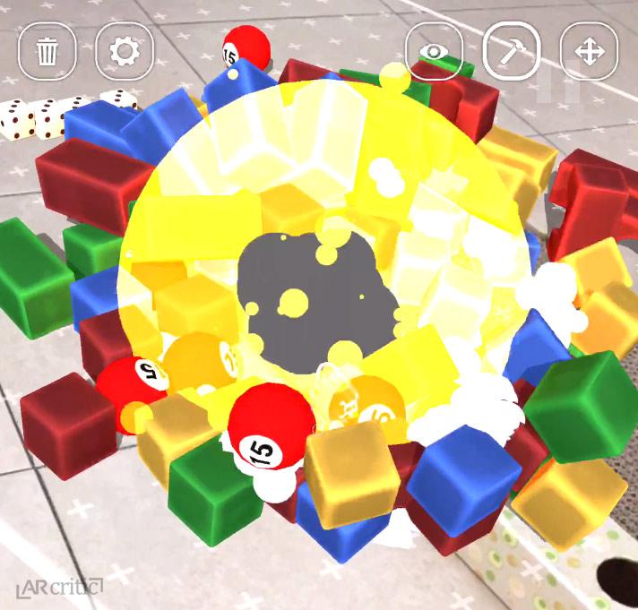 explosion effect in sandbox game