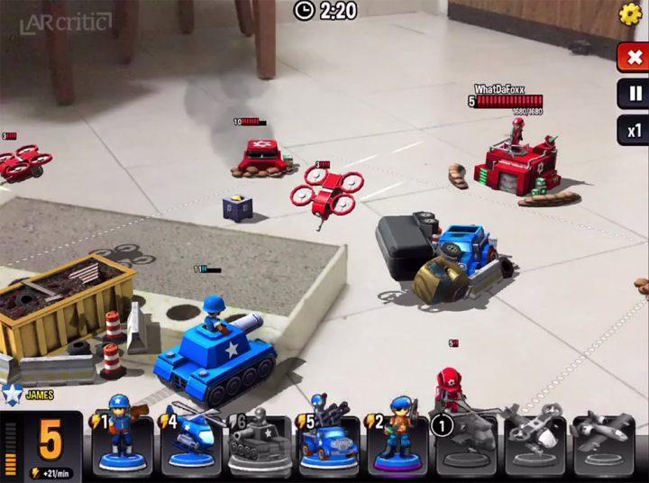 Mini Guns AR mode game screenshot