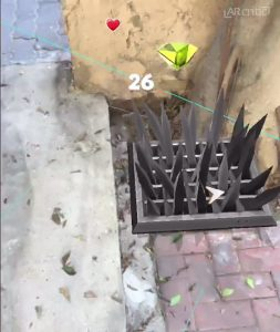 trap in augmented reality