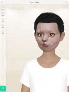 3D avatar customization screen