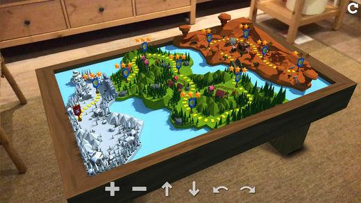 CastleMustBeMine AR virtual table