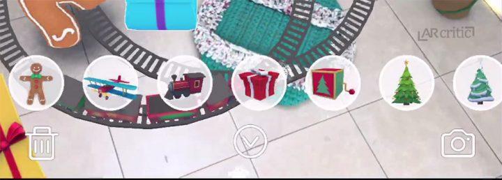 List of Christmas props in an iOS AR app