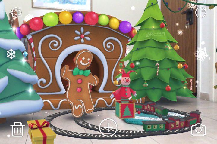 Deck Your Halls Christmas AR app for iOS, screenshot