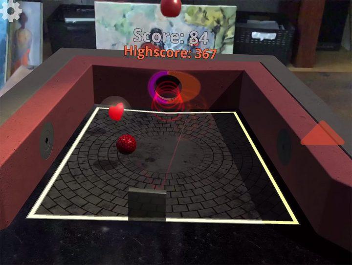 HeadSquare singleplayer game mode, screenshot