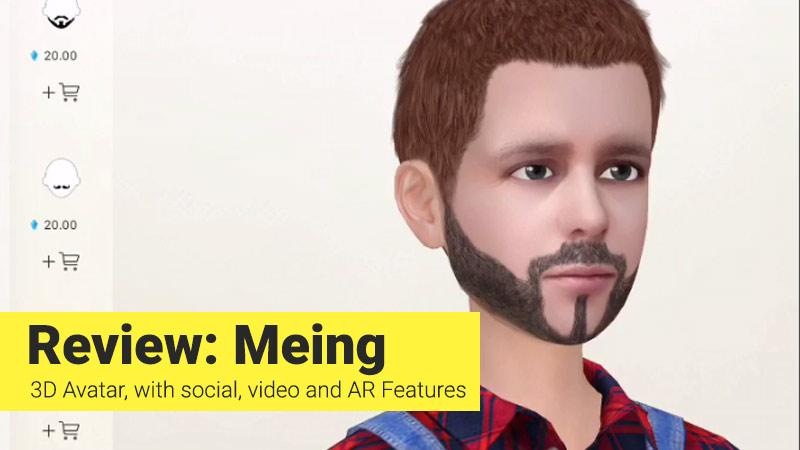 Meing 3D avatar app banner