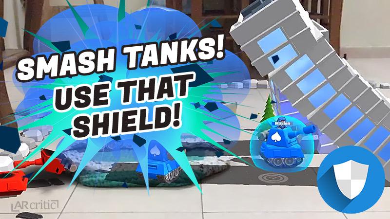 Smash Tanks using shield buff