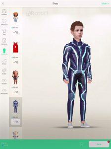 Meing app shop screen