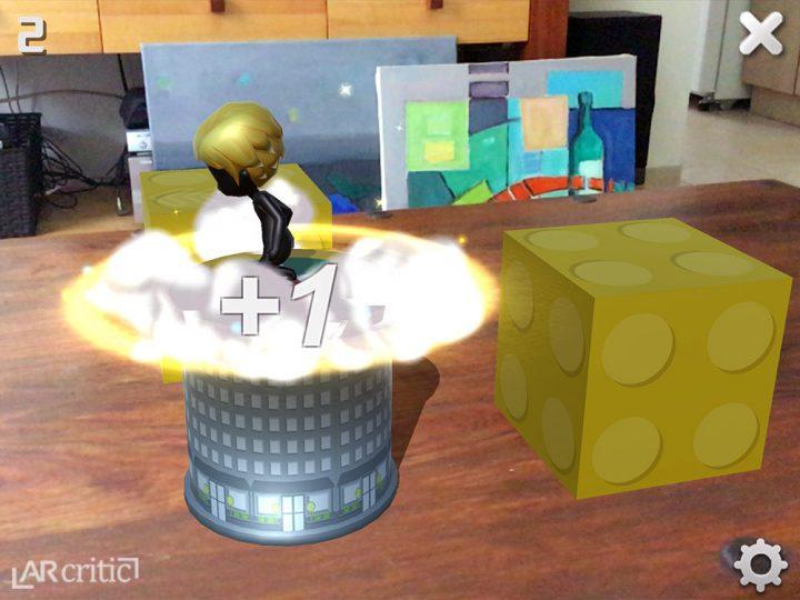 Trump Jump AR game screenshot