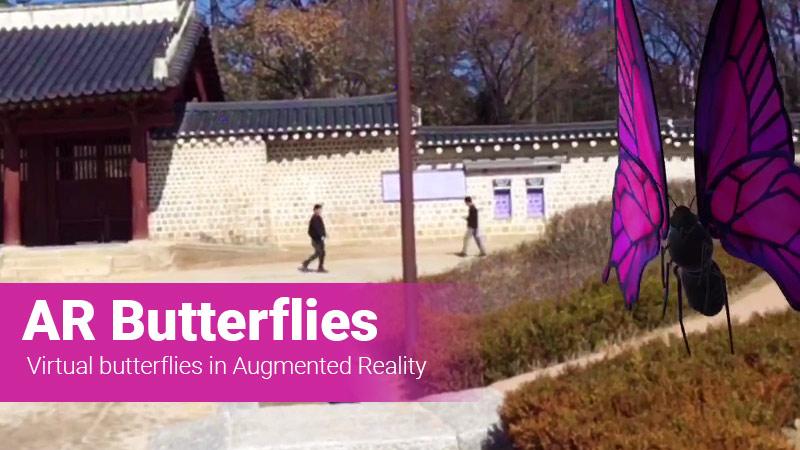 AR Butterflies app