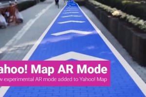 Yahoo! Japan's Map App New AR Mode