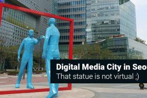 Digital Media City in Seoul: Interesting Statue