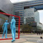 Statue in Digital Media City, Seoul