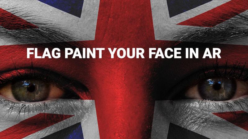 England flag face paint