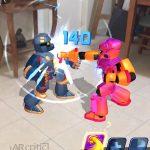 My robot character get hit