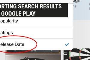 No Sorting Option on Google Play – Am I Missing Something?
