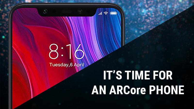 Xiaomi Mi 8 ARCore phone