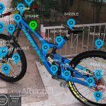 Blue bike in AR