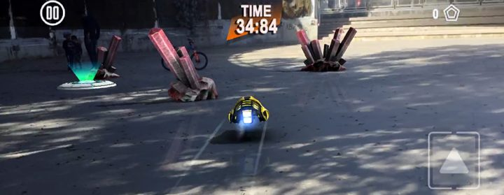 AR arcade racing game