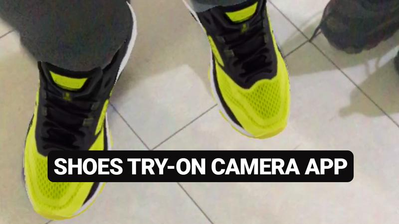 Wanna Kicks shoes Try-On Camera