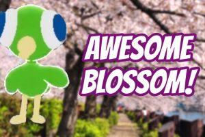 Puppetoon App with Cherry Blossom Views Near the River (Osaka, Japan)