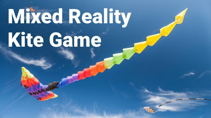 mixed reality kite flying game