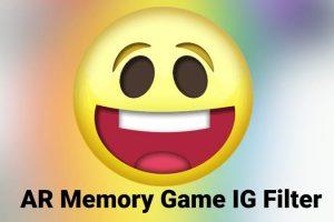 'Simon' like Memory game as Instagram AR filter