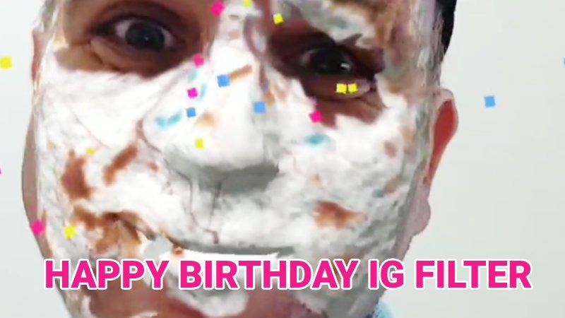 Happy Birthday Instagram filter