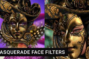 Retro-style Masquerade Fashion Instagram Face Masks
