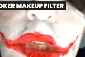 Creepy Clown Makeup Instagram Filter for Halloween