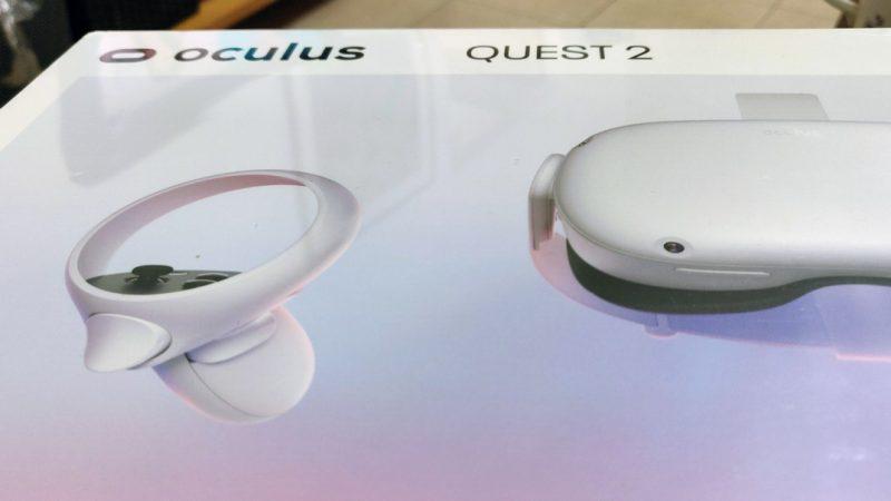 Oculus Quest 2 VR headset boxac